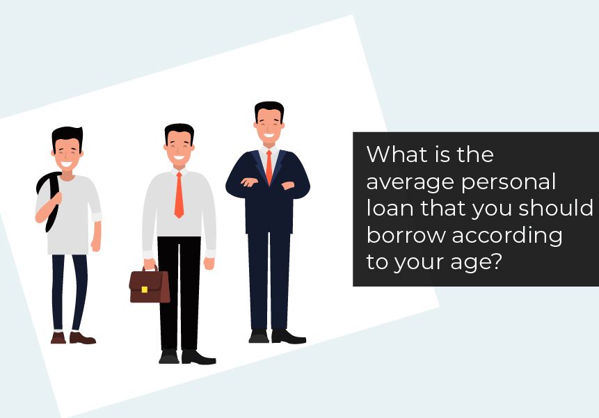 What is the average personal loan that you should borrow according to your age?