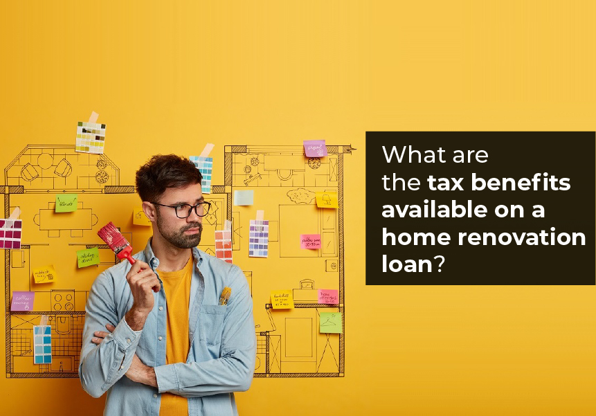 What are the tax benefits available on a home renovation loan?
