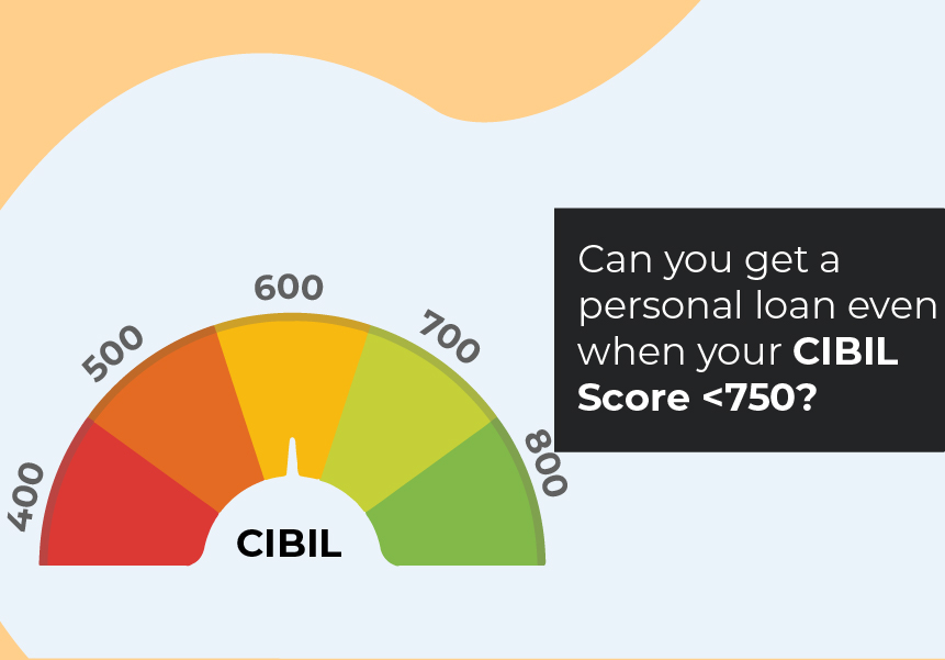 Can you get a personal loan even when your CIBIL Score <750?